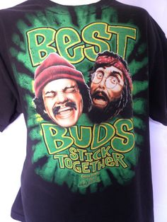 Cheech and Chong T Shirt XL Up in Smoke Best Buds  Free ship in USA.