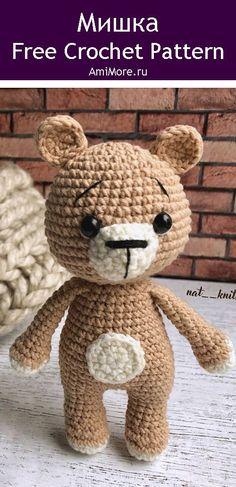 PDF Мишка крючком. FREE crochet pattern; Аmigurumi animal patterns. Амигуруми схемы и описания на русском. Вязаные игрушки и поделки своими руками #amimore - мишка, медведь, медвежонок, teddy bear, oso, suportar, ours, bär, ayı, niedźwiedź, medvěd, bära. Amigurumi doll pattern free; amigurumi patterns; amigurumi crochet; amigurumi crochet patterns; amigurumi patterns free; amigurumi today.