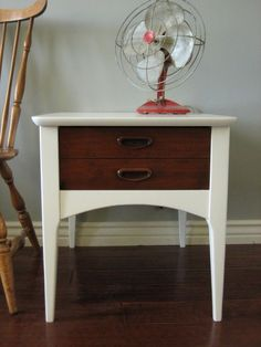 European Paint Finishes: ~ Mid-Century High Gloss Dresser & End Table ~