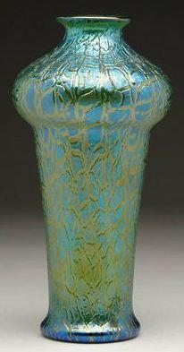 Loetz art glass vase, Crete Mimosa, 1907