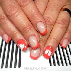 Selection that's full of amazing, cool and new french nail design ideas: all the latest trends, launches, expert techniques and superstars secrets . French Nails, Gel Manicure Designs, Nailart, French Nail Designs, Girly, Design Ideas, Easy, Lady Like, French Tips