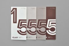 Brand Identity and print for Clay — Museum of Ceramic Art Denmark by Designbolaget