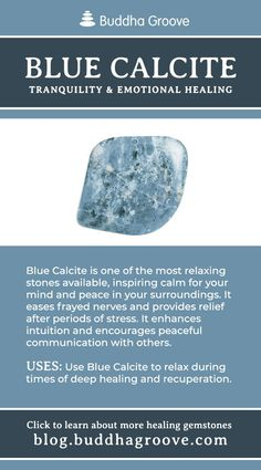 Blue Calcite - Tranquility, and emotional healing Crystal Guide, Crystal Magic, Minerals And Gemstones, Crystals Minerals, Healing Gemstones, Crystal Healing Stones, Stones And Crystals, Blue Stones, Gem Stones