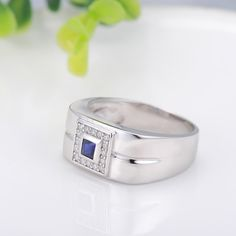 Silver #rings men with European style square shaped #silverjewelry R-0214. #StarHarvest Silver Jewelry