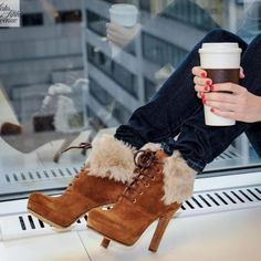 See more High heel brown winter shoes for ladies