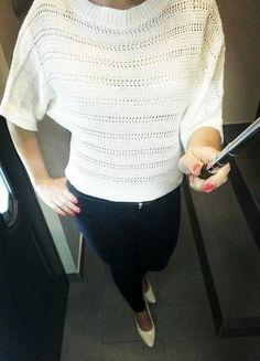 Kup mój przedmiot na #vintedpl http://www.vinted.pl/damska-odziez/swetry-z-dzianiny/18761481-ecrubialy-sweterek-oversize-vila-nietoperz