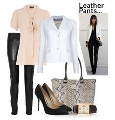 Is it ok to wear leather pants to the office?  Find out how to pull off the look.