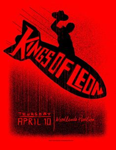 Kings of Leon - gig poster