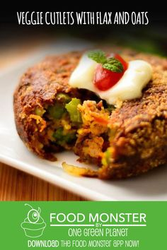 Veggie Cutlets With Flax and Oats!