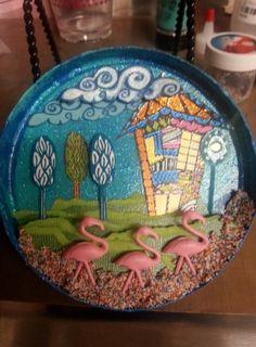 Viva Las VegaStamps!: Pretty Little Houses & Pink Flamingos by DT member Aimee Fleck