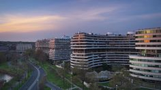 WASHINGTON, D.C. - APRIL 11, 2015: The Watergate Complex in Foggy Bottom. The complex became well known in the wake of the Watergate Scandal which led to President Richard Nixon's resignation in 1974. - HD stock footage clip