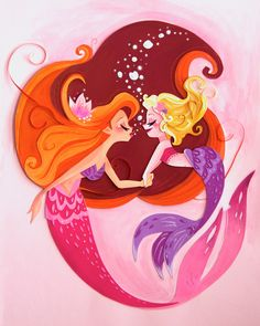 Blow bubble kisses to a little one. Original Paper Art piece, made from card stock paper and watercolor paint. Siren Mermaid, Mermaid Lagoon, Mermaid Fairy, Mermaid Tale, Fantasy Creatures, Mythical Creatures, Sea Creatures, Mermaid Drawings, Art Drawings