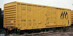 VTR, Vermont Railway 50' Single Door Boxcar, 13091 November 1979