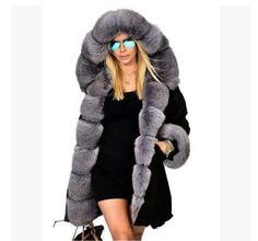 Find Manka Vesa Women's Winter Thicken Faux Fur Hooded Plus Size Camo Parka Jacket Coat Size online. Shop the latest collection of Manka Vesa Women's Winter Thicken Faux Fur Hooded Plus Size Camo Parka Jacket Coat Size from the popular stores - all in one Faux Fur Parka, Parka Coat, Faux Fur Jacket, Winter Outfits Women, Winter Jackets Women, Coats For Women, Clothes For Women, Long Hooded Coat, Hooded Winter Coat