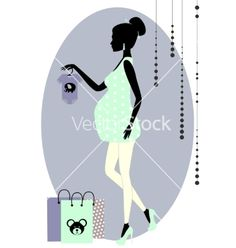 Silhouette of a fashionable pregnant woman vector 2190069 - by mirosh17tatyana on VectorStock®