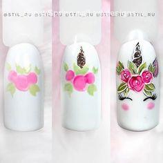 Spring Nail Designs - My Cool Nail Designs Cute Summer Nail Designs, Cute Summer Nails, Nail Designs Spring, Nail Art Designs, Summer Design, Spring Nail Art, Spring Nails, Unicorn Nail Art, Unicorn Nails Designs