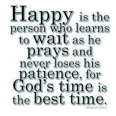 Amen! God's timing is always perfect :-)