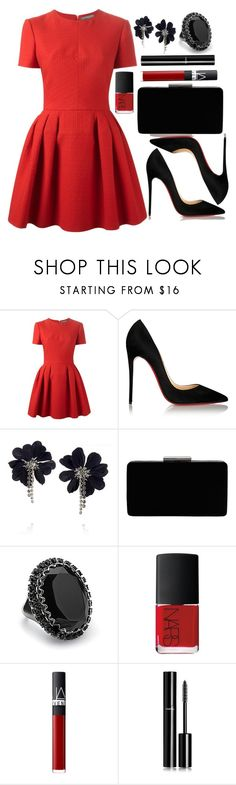 """""""Untitled #3369"""" by natalyasidunova ❤ liked on Polyvore featuring Alexander McQueen, Christian Louboutin, Lanvin, John Lewis, Lane Bryant, NARS Cosmetics and Chanel"""