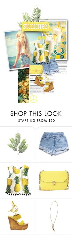 """pineapple"" by lifestyle-ala-grace ❤ liked on Polyvore featuring BoConcept, Levi's, Valentino, Steve Madden, Marlyn Schiff and Victoria Beckham"