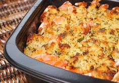 Baked Shrimp Scampi: easy & delicious, shrimp are topped w a buttery sauce & breadcrumbs then baked til golden