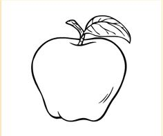 Free Printable Apple Coloring Pages For Kids | Free coloring, Free ...