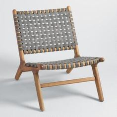 Gray Strap Girona Outdoor Accent Chairs Set Of 2