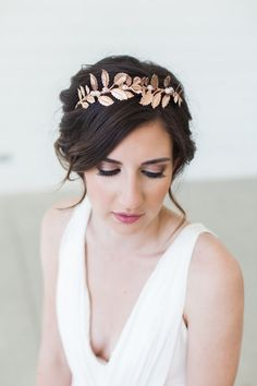 Rose Gold Grecian Wreath Crown