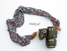 Converting a Scarf into a Camera Strap - Lomography