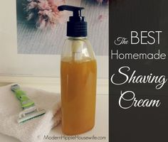 The BEST Homemade Shaving Cream (for Guys & Gals) - Modern Hippie Housewife: