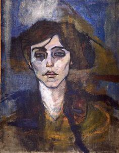 artnet Galleries: Maud Abrantes (verso) by Amedeo Modigliani from Richard…