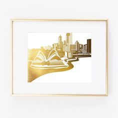 "Sidney Australia Real Gold Foil Wall Art Print Skyline City Home Town World Map distance Fashion Wedding poster 0510. ▲ Limited edition art print. ▲ These print is done with shiny gold finish. Printed on Beautiful Fine Paper. ▲Print Size: (8 x10"", 11""x14"" or 11""x17""). No frame or matting are included with purchase."