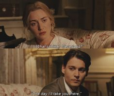 Johnny Depp and Kate Winslet in Finding Neverland One of my favorite movies. I have alot of favorite movies. Kate Winslet, Finding Neverland Movie, Movies Showing, Movies And Tv Shows, Terra Do Nunca, Robin, Jm Barrie, Hollywood Scenes, Books