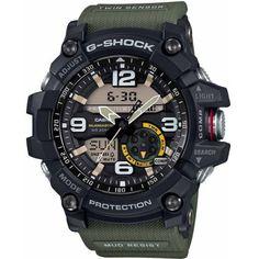Reloj Casio GG-1000-1A3ER Mudmaster barato, fabricado en resina, con doble sensor de brújula y termómetro, sumergible 200 metros. Relojes Casio Mudmaster