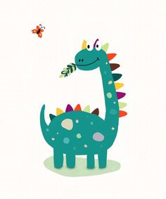 Baby Animals Drawings Simple Illustrations Ideas For 2020 Sheldon The Tiny Dinosaur, Cute Dinosaur, Dinosaur Art, Baby Animal Drawings, Cute Drawings, Die Dinos Baby, Dinosaur Posters, Art Watercolor, Baby Drawing