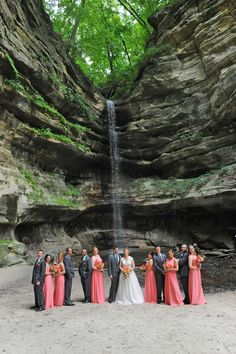 We all hiked to St. Louis Canyon to get this amazing photo with a waterfall in the background! It was worth it. Photo by Kathy Casstevens