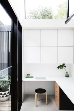 a small-budget renovation uses smart angles to perfect the minimalist look. Photography by Chris Warnes. Styling by Sarah Ellison. From the July 2017 issue of Inside Out Magazine. Available from newsagents, Zinio, https://au.zinio.com/magazine/Inside-Out-/pr-500646627/cat-cat1680012#/  and Nook.