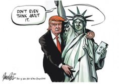 Political Satire and Funny Illustration about Donald Trump/Just watch & Laugh. I do not own the image or music in my video.If you have an issu. Trump Cartoons, Political Cartoons, Political Memes, Liberty Statue, Thing 1, Funny Illustration, Political Views, Just In Case, Mississippi