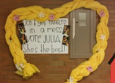 Tangled poster Slogans For Student Council, Student Gov, Student Council Campaign, Student Body President, Campaign Manager, School Campaign Posters, Campaign Slogans, Homecoming Poster Ideas, Homecoming Queen