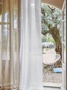 voilage illets en tamine de lin 3 suisses melange de couleur pour rideaux salon beige et. Black Bedroom Furniture Sets. Home Design Ideas