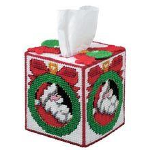 Traditional Santa Tissue Box
