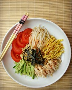 The Red Gingham: Spicy Japanese Cold Summer Noodles (Hiyashi Chuka)...