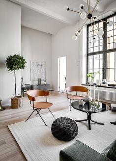 Stockholm apartment living room, old brewery, eclectic (source: automatism or http://lorilangille.blogspot.gr)