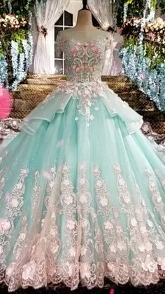 Luxury Wedding Dress, Blue Wedding Dresses, Wedding Gowns, Blue Ball Gowns, Ball Dresses, Prom Dresses, Blue Quinceanera Dresses, Debut Gowns, Dress Design Sketches