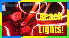 FLORIDA BEACH CHRISTMAS LIGHTS WITH LIFEGUARD CHAIRS!