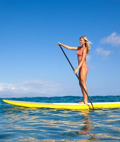 Stand Up Paddleboard (SUP) -- great workout! Trust me, your core will feel the workout! It's fun, relaxing and a great workout. Love Fitness, Fitness Tips, Fitness Motivation, Health Fitness, Sup Stand Up Paddle, Sup Paddle, Toning Workouts, Fun Workouts, Summer Workouts