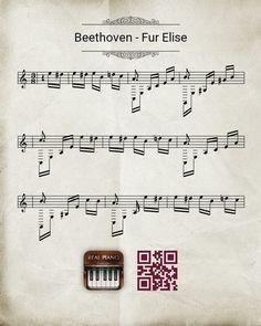 Betoven Sheet Music, Weird, Music Notes, Music Sheets