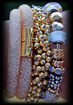 Swarovski and Pandora gold and diamond
