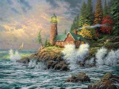 Thomas Kinkade Lighthouse Paintings