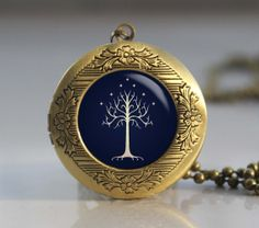 Lord of the Rings Necklace The white Tree White door Jewelryshop1312, $11.00