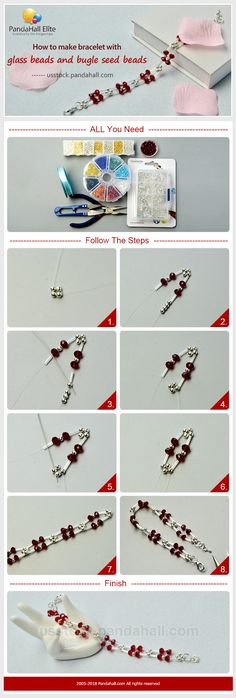 PandaHall Elite Craft Ideas on How to make bracelet with glass beads and seed beads #pandahallelite #handmadebracelet #bracelet #crafttutorial #glassbeads #buglebeads